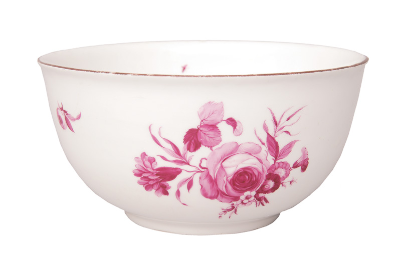 Bowl with flower painting