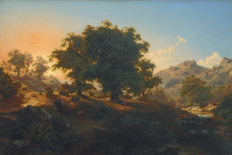 Mountain Landscape in Dusk