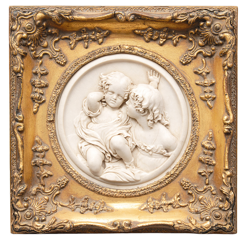 "A relief ""Two embrassed children"""