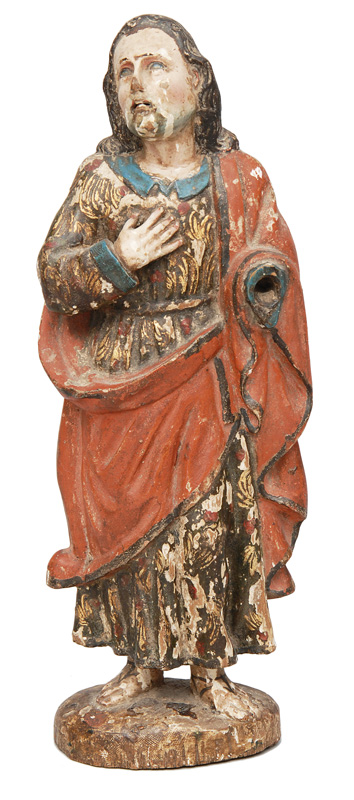 "A wood sculpture ""Saint John"""
