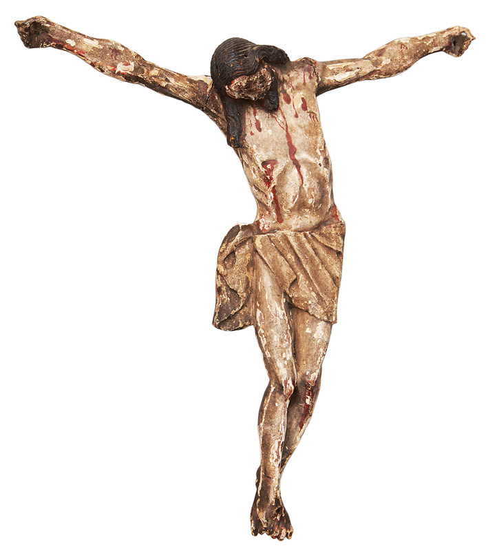 "A wood sculpture ""Crucifix"""