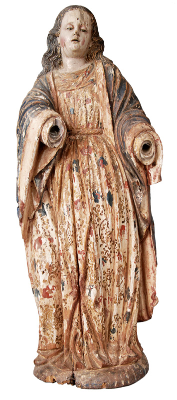 "A wood sculpture ""Saint"""