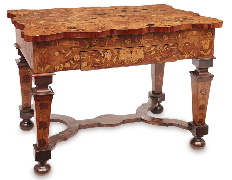 A Baroque table with costlier marqueterie