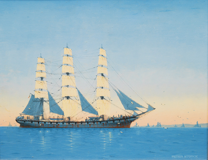 French Full-Rigged Ship in a Calm