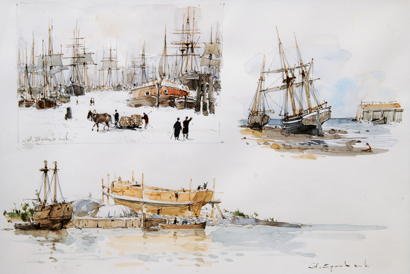 Sketches with Tall Ships