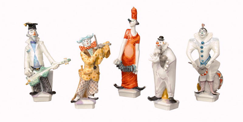 "A rare figurine group ""Five Meissen musicians"""