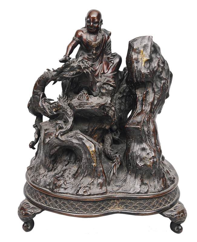 "A large bronze ""Dragon tamer"""