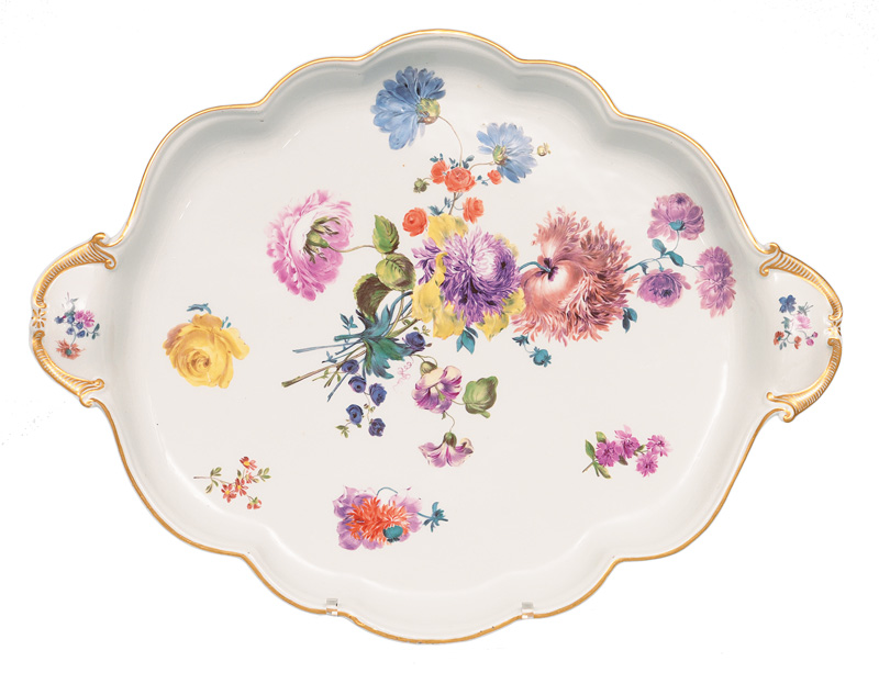 A tray with flower painting