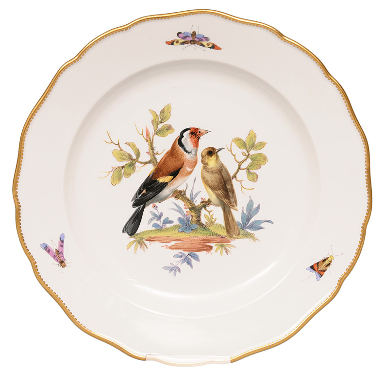 A plate with bird painting