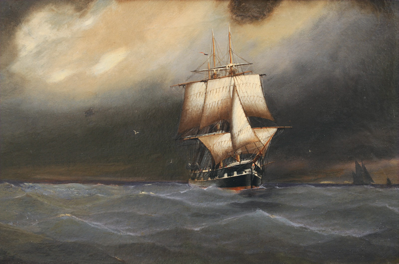 Companion Pieces: Sailing Ships under thundery Sky