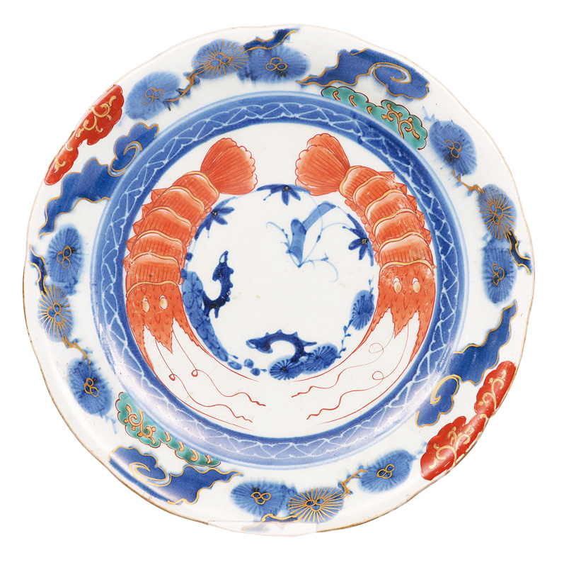 A plate with crayfishes