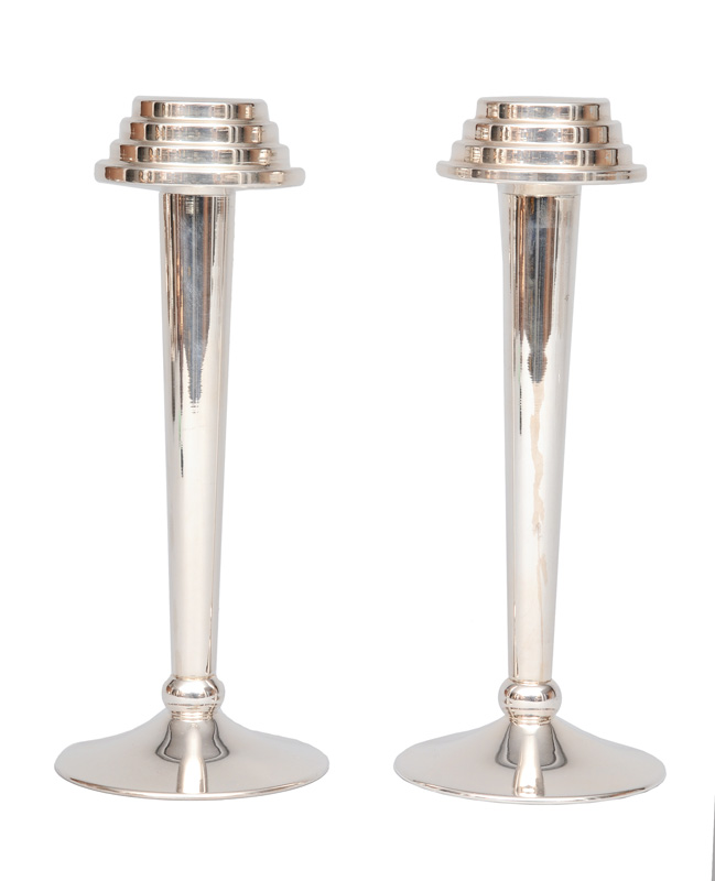 A pair modern candle holders