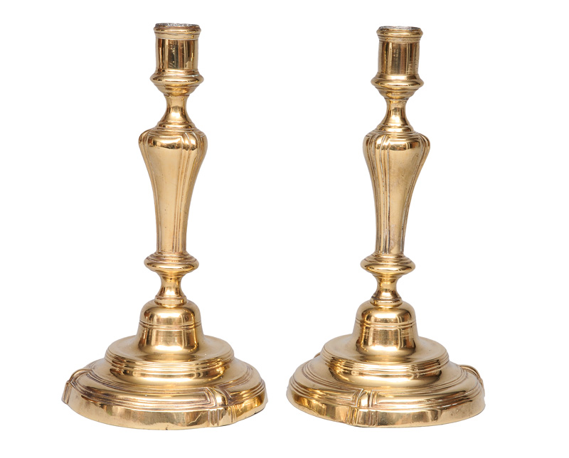 A pair of Baroque candlesticks