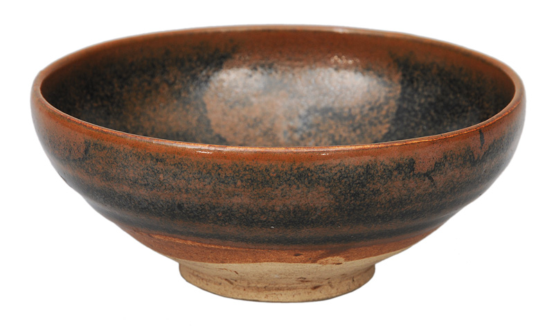 A Song tea bowl with tea-powder decoration