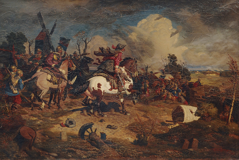 Frederick William I in the Battle of Fehrbellin