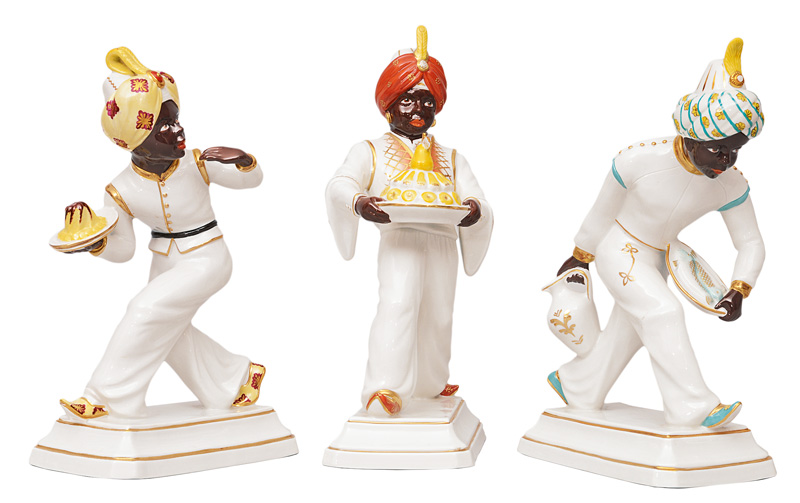 "A trio of figurines ""Moors"""