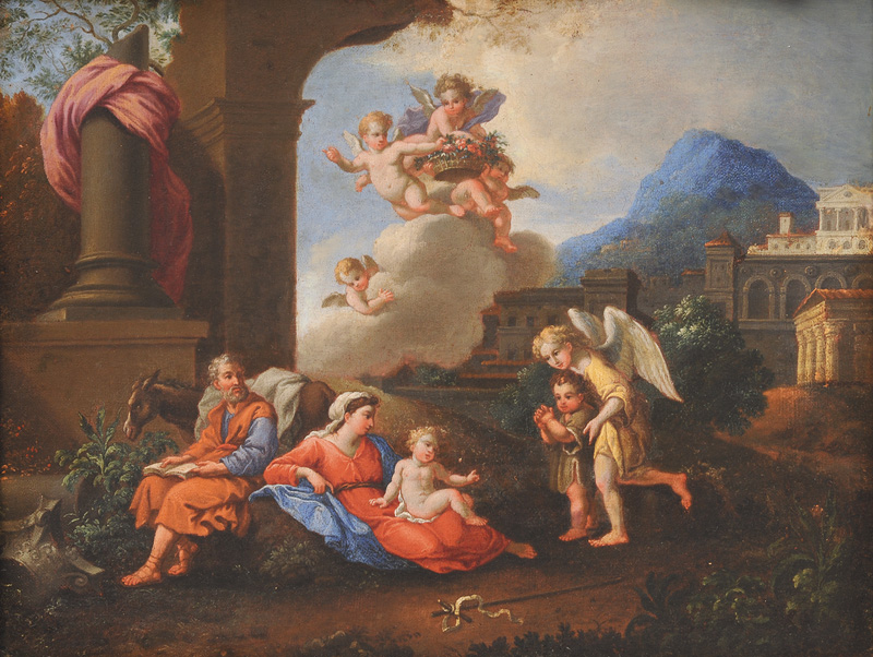 Rest on the Flight to Egypt with the Infant St. John