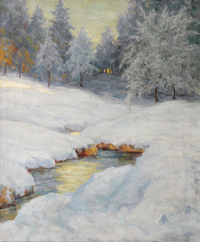 Winter Evening by a Creek