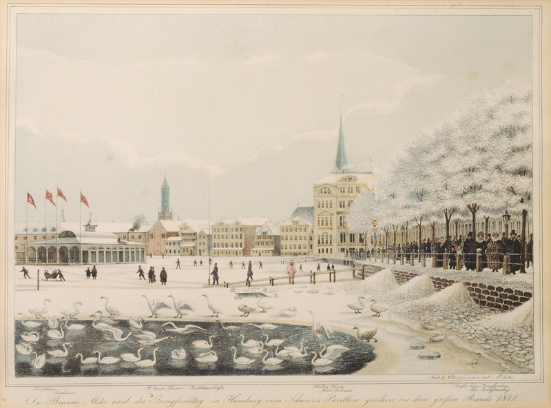 The Binnenalster in Winter