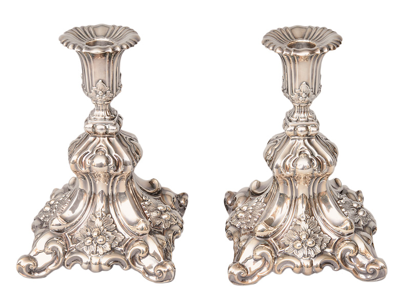 A pair of candlesticks in Baroque style