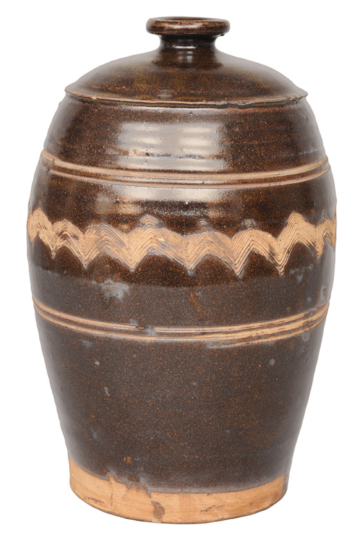 A large vessel with incised decoration