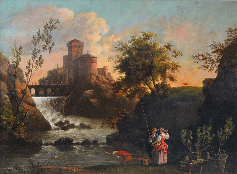 Heroic Landscape with Waterfall