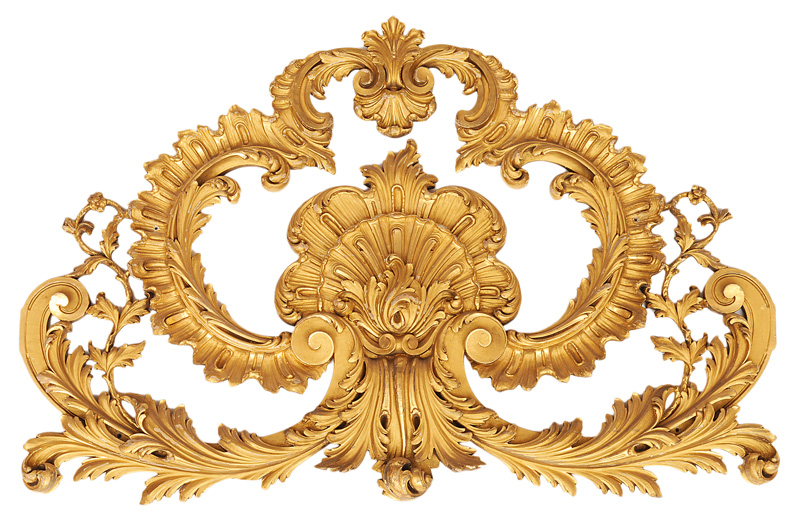 A pair of elegant wall decorations in the style of Baroque