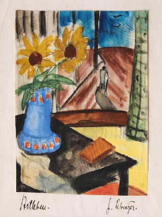 Still Life with Flowers by a Window