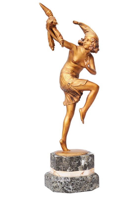 "An Art Deco figure ""Clown dancing"""