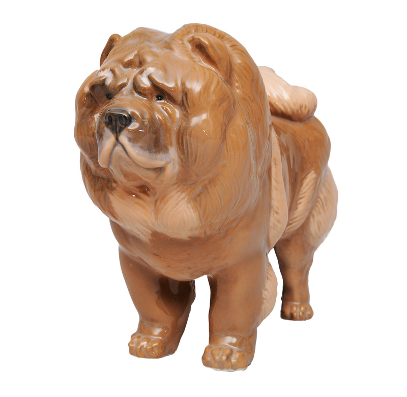 "An animal figurine ""Chow chow"""