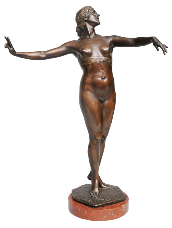 "A big bronze figure ""Dancing nude"""