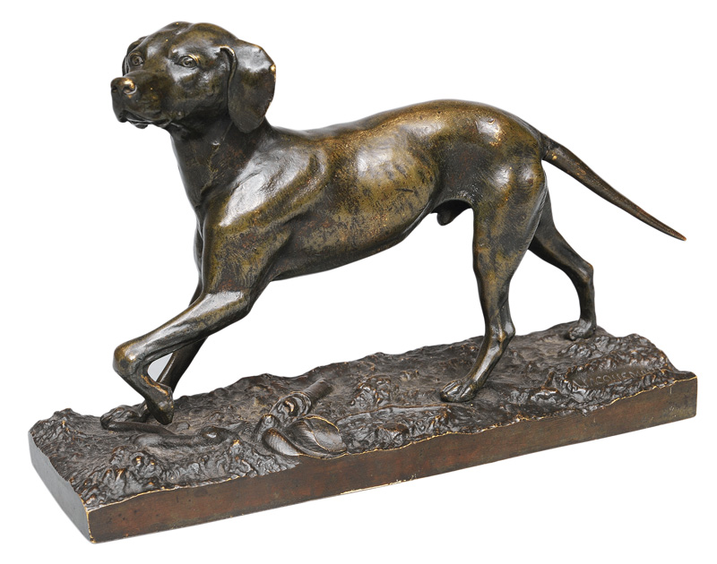 "A bronze figure ""Hunting dog"""