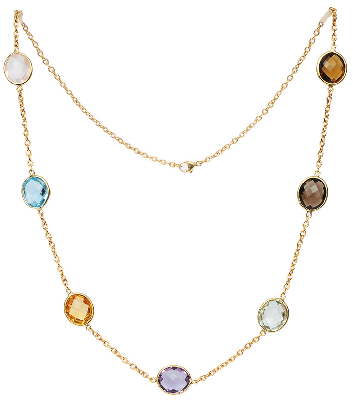 A necklace with fine coloured stones