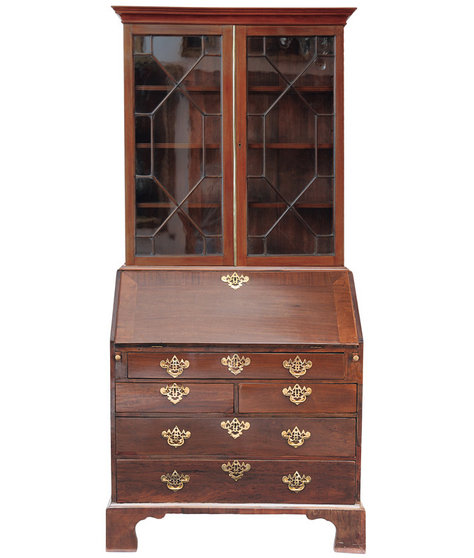 A secretaire bookcase