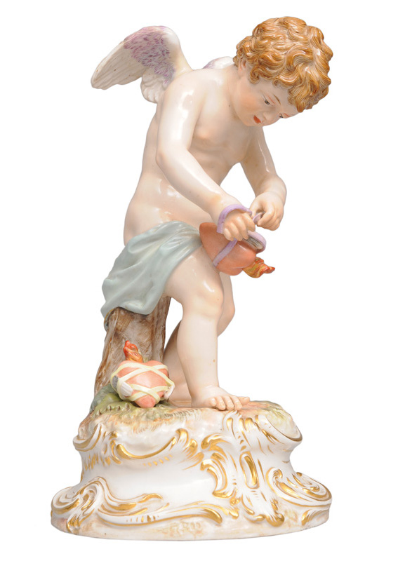 "A figurine ""Cupid, binding hearts"""