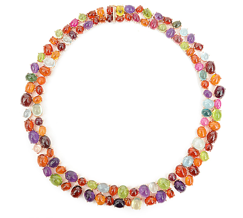 A high carat and colourful necklace
