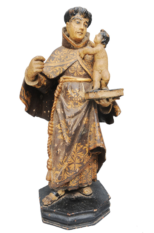 "A wooden figure ""Saint Anthony of Padua"""