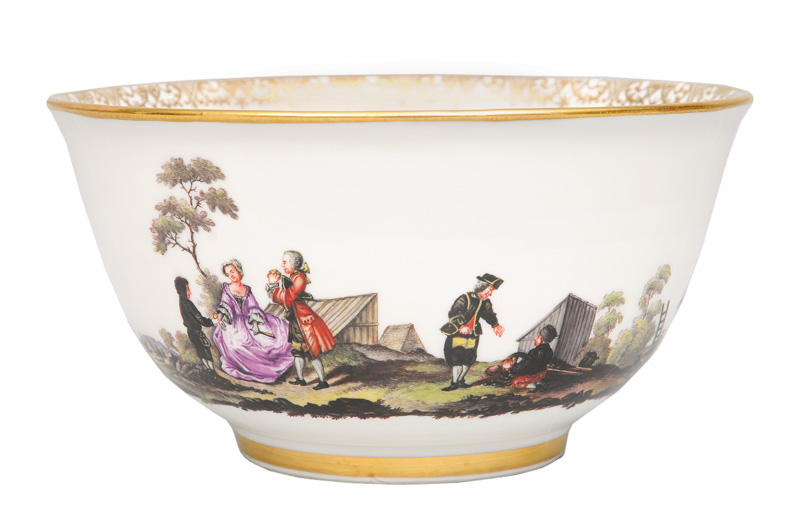 "A bowl with miner""s scenes"