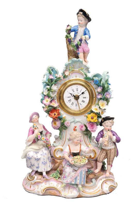 "A fine timepiece with gardener""s children"