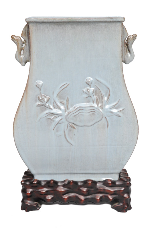 A vase in Hu-shape with relief decoration