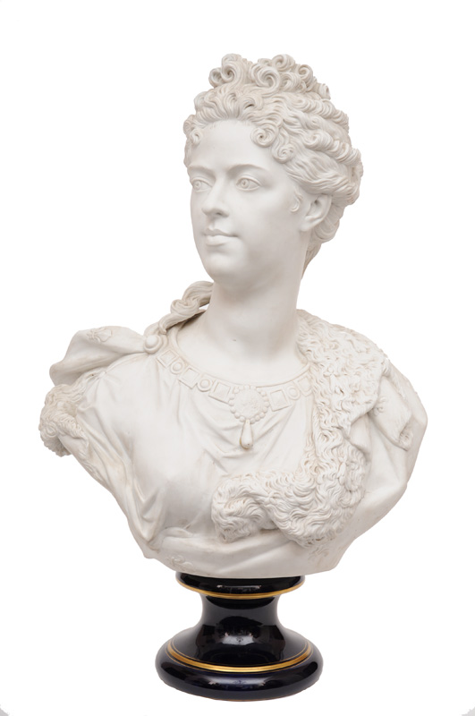 "A tall Sèvres-bust ""Marie Antoinette"""