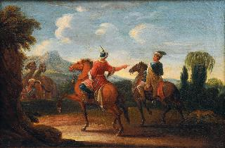 Landscape with oriental Horse Riders