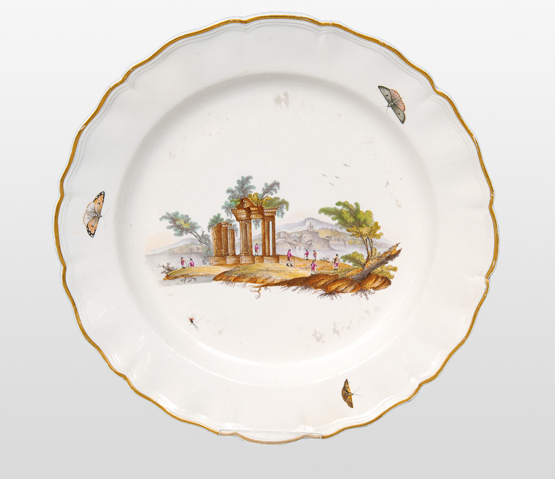 A plate with ruins in Campania