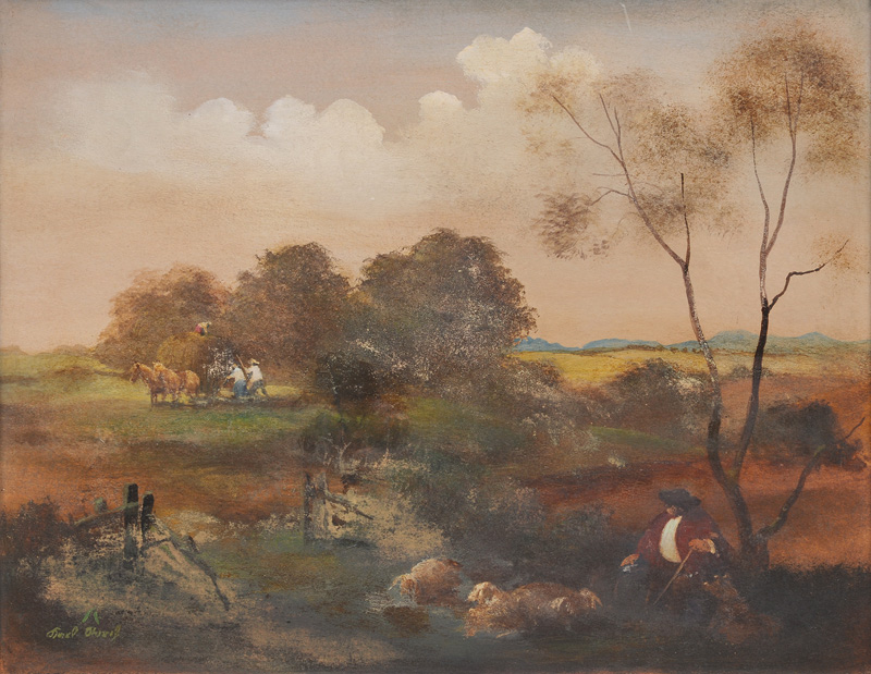 Summer Landscape with Shepherd