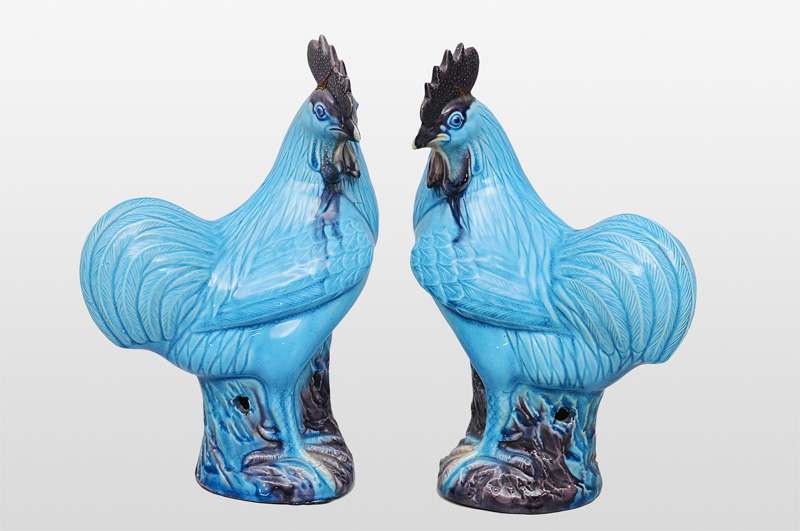 "A pair of figurines ""Cockerels"""