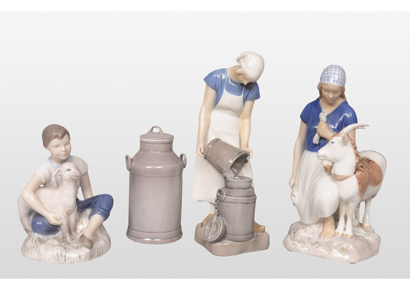 Three figurines from peasant life