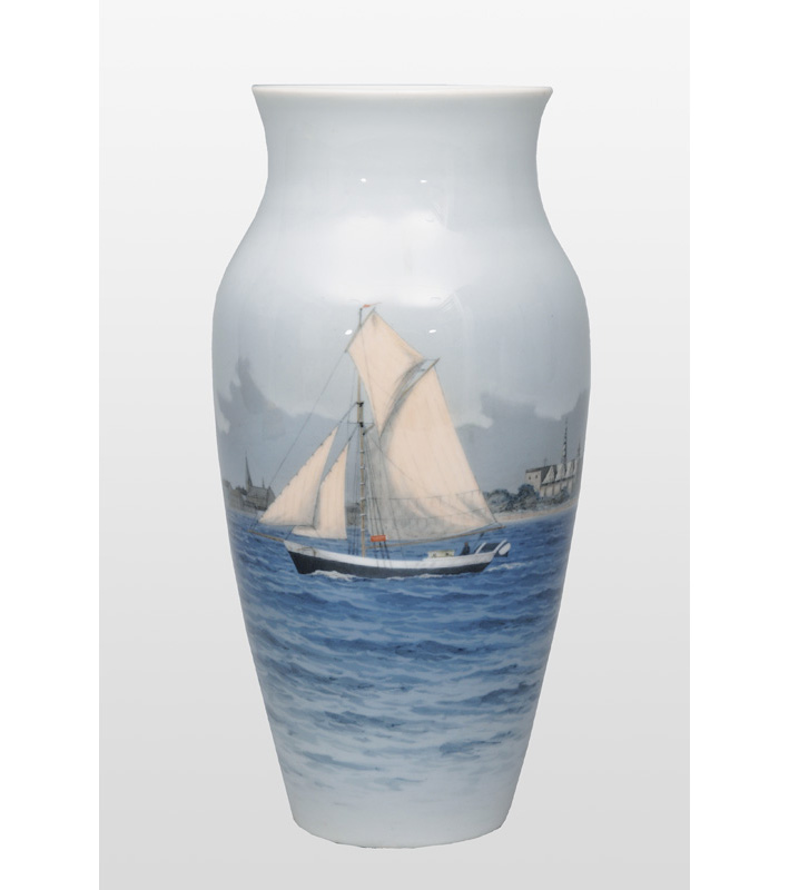 A vase with sailing boat near Copenhagen