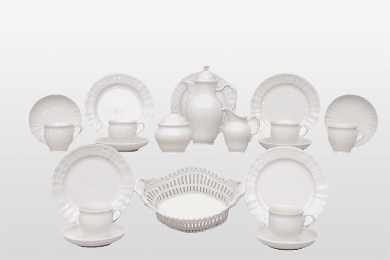 "A coffee service ""Rocaille white"" for 5 persons"