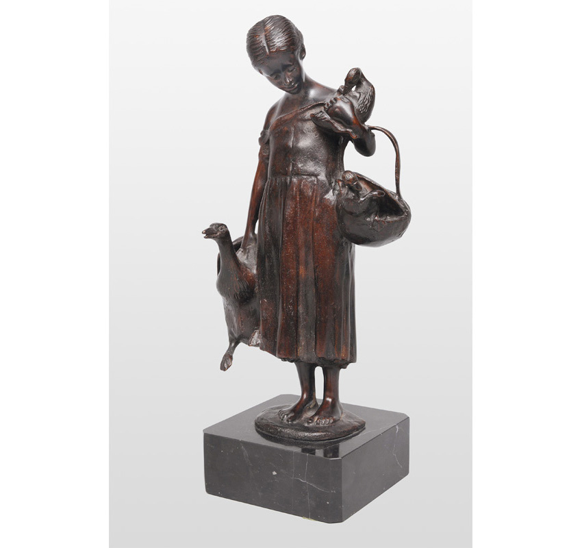 "A bronze figure ""Goose girl"""