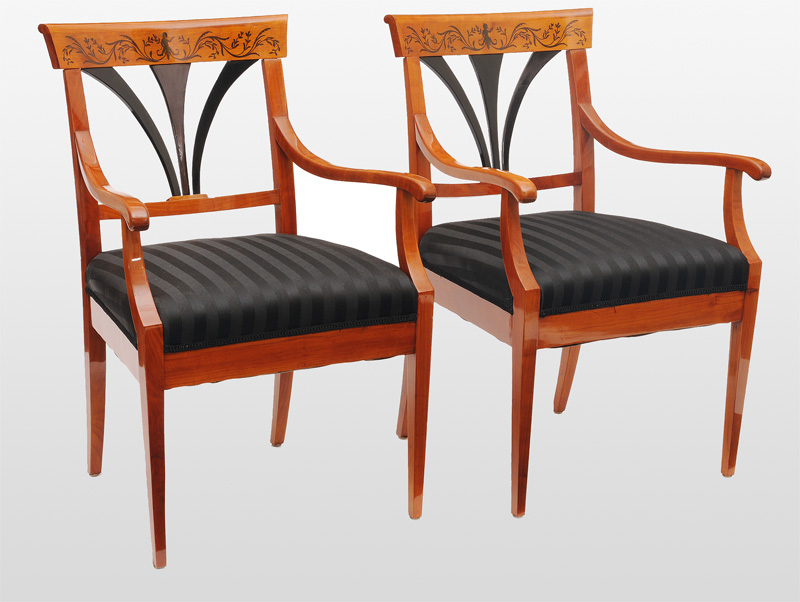 A pair of Biedermeier armchairs